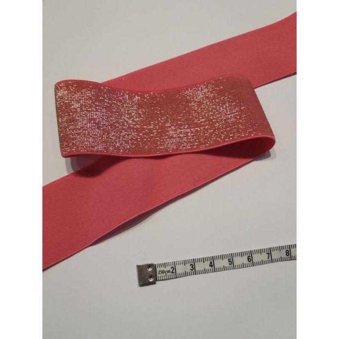 Élastique 4cm rose et or