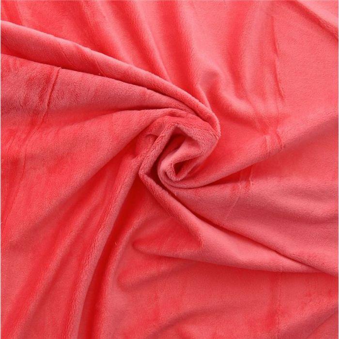 Minkee lisse rouge bégonia