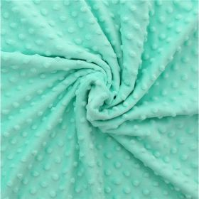 Tissu minkee và pois vert aqua