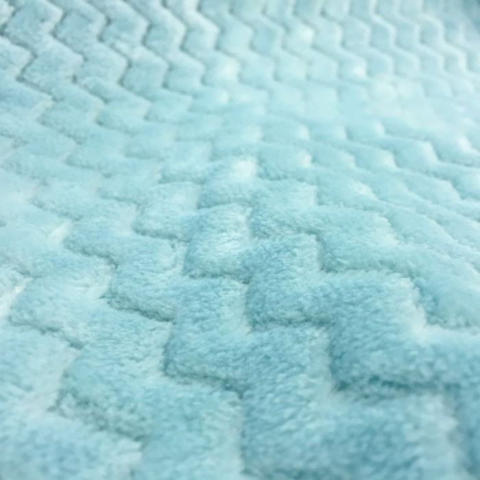 Tissu polaire wave menthe