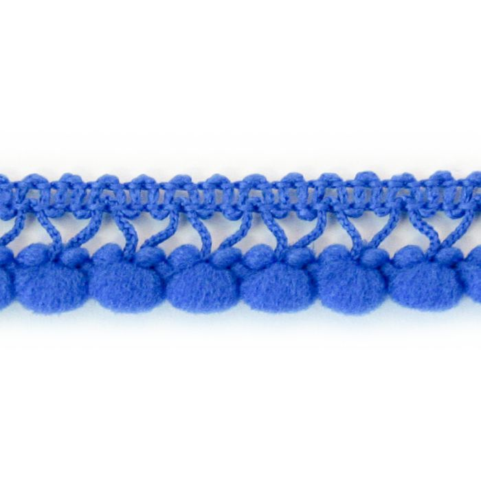 Galon à pompons bleu roi