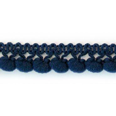 Galon à pompons bleu marine