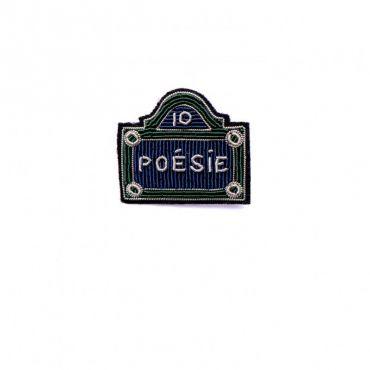 Broche Plaque Poésie Macon Lesquoy