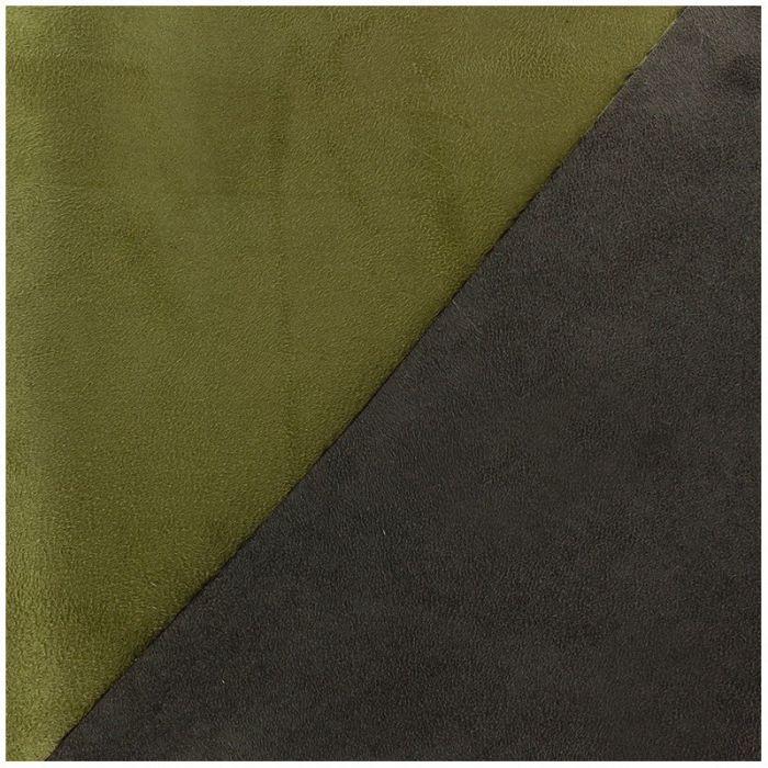 Suédine bicolore vert mousse brun