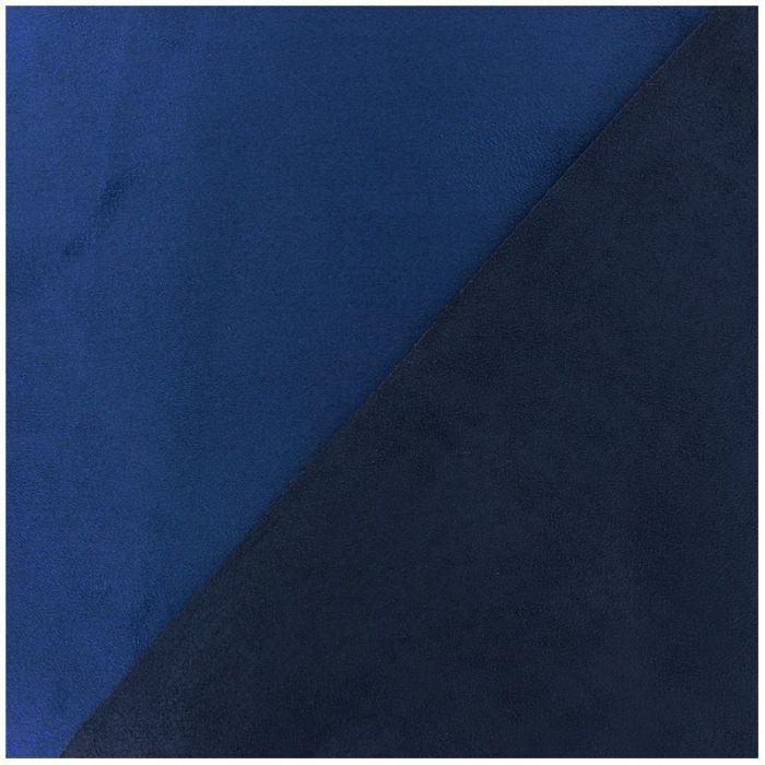 Suedine bicolore bleu marine roi