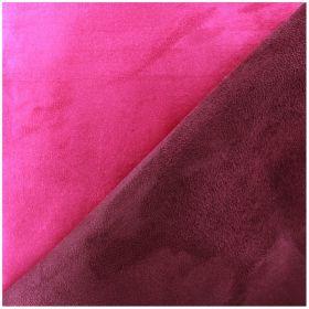 Tissu suédine bicolore fuschia améthyste