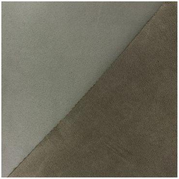 Suédine bicolore marron foncé castor et marron clair loutre