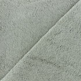 Tissu en épongede bambou taupe 90%bambou 10pes 350g/m2