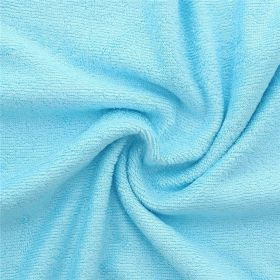 Tissu en éponge de bambou bleu turquoise 90%bambou 10pes 350g/m2