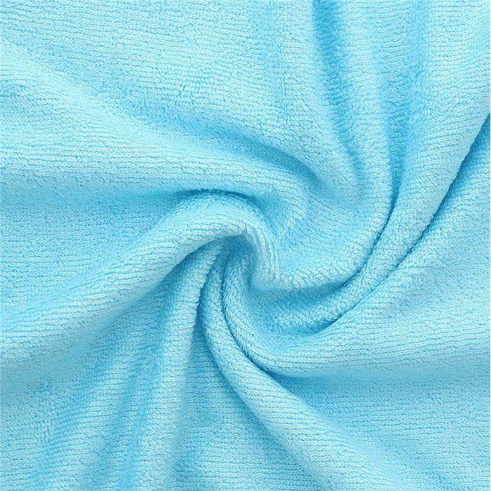 Tissu en éponge de bambou bleu 90%bambou 10pes 350g/m2