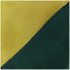 Suédine bicolore vert canard jaune curcuma