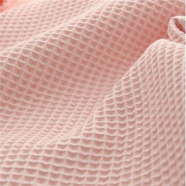 Tissu nid d'abeille blush