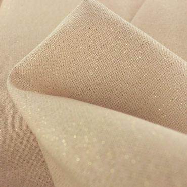Tissu polycoton enduit rose nude
