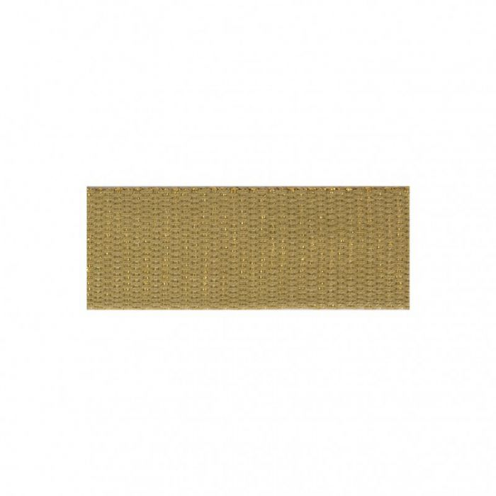 Sangle lurex 30mm beige