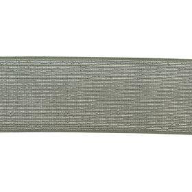 Elastique céladon lurex argent 40mm