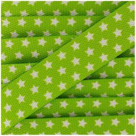 Sangle avec etoiles blanches sur fond vert