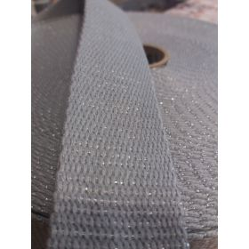 Sangle metal 30mm gris/vert