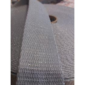 Sangle metal 30mm gris/vert