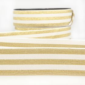 Elastique stripe metal blanc