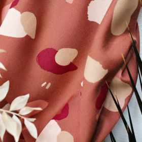 Tissu granito chestnut Atelier Brunette