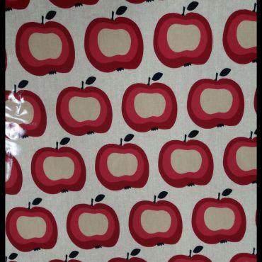 Toile enduite Pomme lin PVC