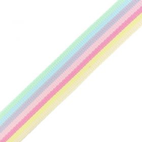 Sangle multicolore pastel