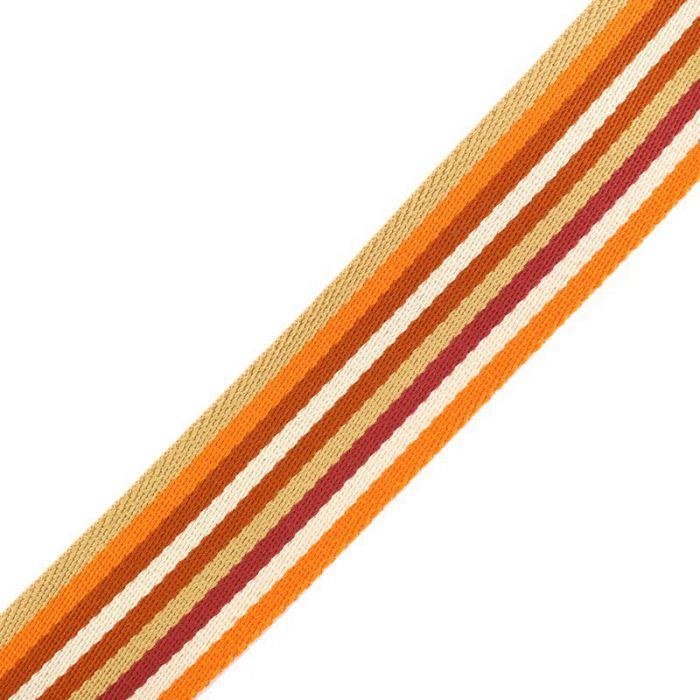 Sangle stripe double face orange