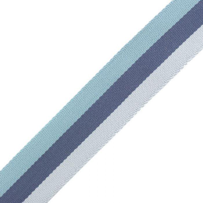 Sangle stripe double face bleu