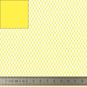 Tissu Filet Mesh fabric jaune 137cm