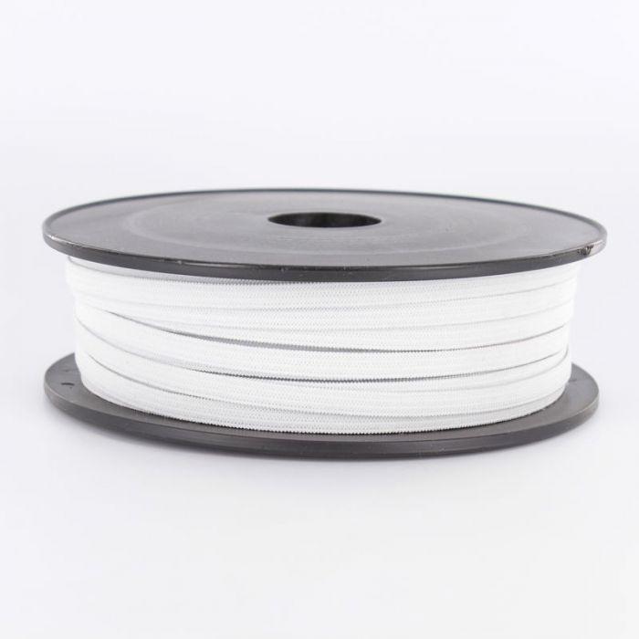 Elastique plat blanc 5mm souple