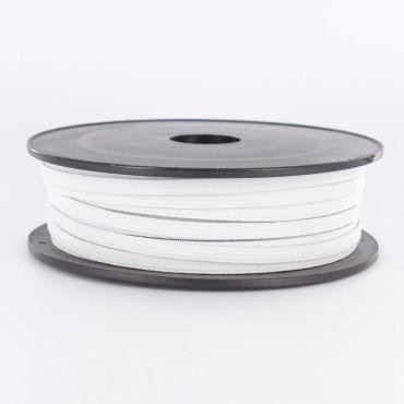 Elastique plat blanc 7mm souple