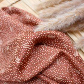 Tissu dune chestnut crepe de viscose