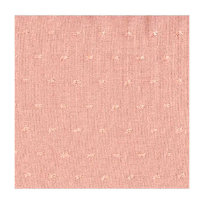 Plumeti voile de coton blush laize 140cm