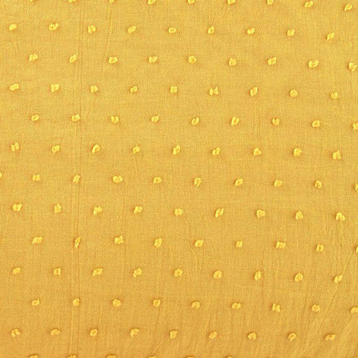 Plumetis moutarde 140cm de laize voile de coton