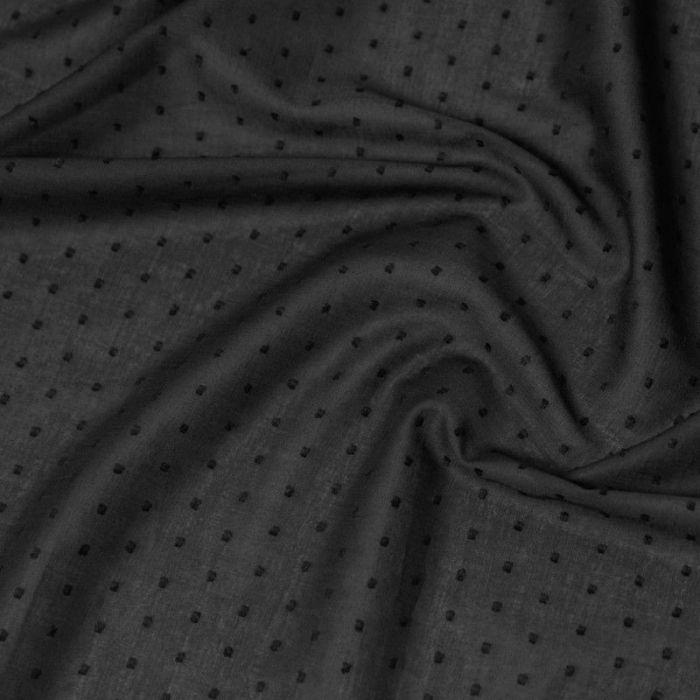 PLUMETIS NOIR 140cm de laize voile de coton