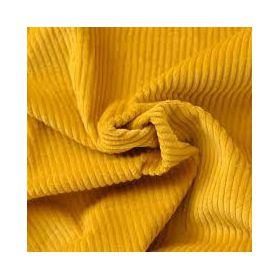 Velour grosse cote jaune 140cm