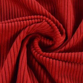 Velour grosse cote rouge 140cm