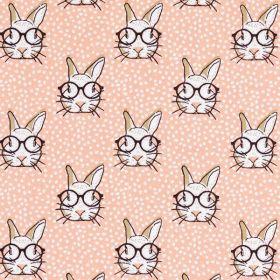 Rabbit corail/sepia 150 100%coton