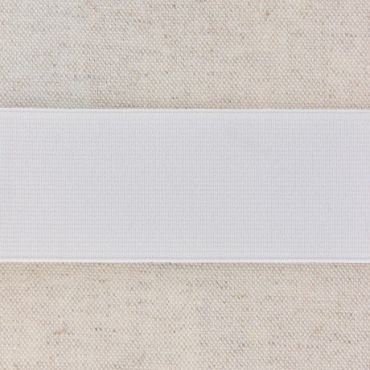 Elastique blanc cotelé 40mm