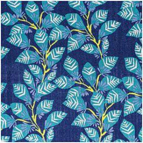 Double gaze feuillage bleu or menthe