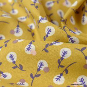 Coton lilipan ocre violet 150