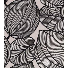 Nuit blanche noir fons gris 100%coton 140cm