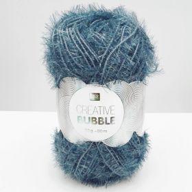 Laine bubble bleu