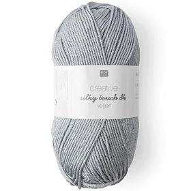 Laine vegan silky touch gris argenté