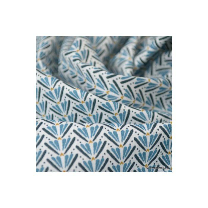 Coton marita prusse nuit largeur 150cm