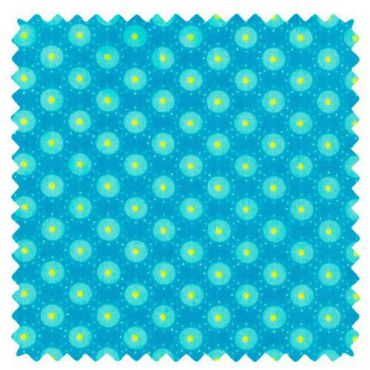 Coupon coton 50x70cm coton bubble bleu aruba