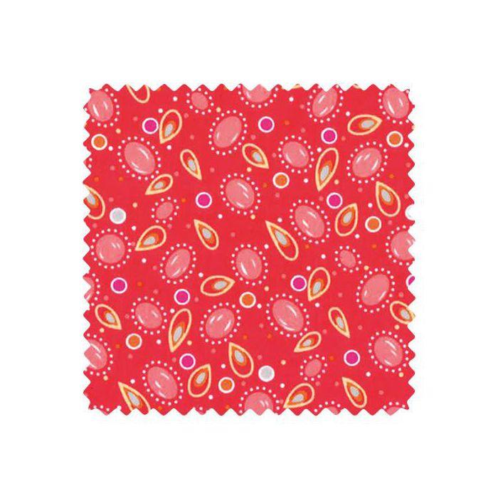 Coupon coton 50x70cm coton TSIGANE ROSE INDIEN