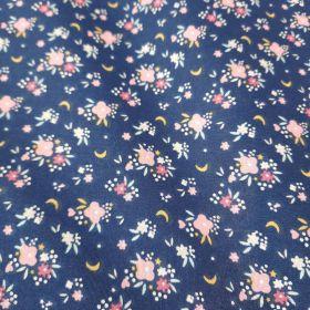 Flomi bleu rose  100% coton 150cm