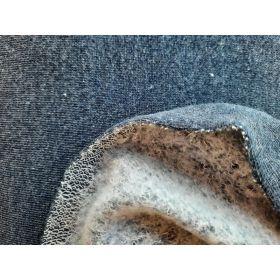 Jersey sweat bleu 140cm oekotex