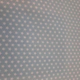 Etoile fond bleu100%co oekotex150cm